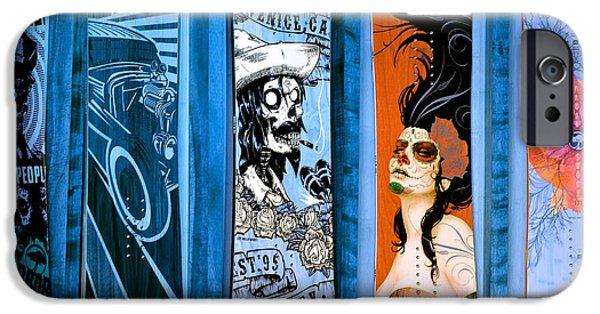 Skateboards iPhone Cases -  Bluesy Skateboard Art iPhone Case by Fraida Gutovich