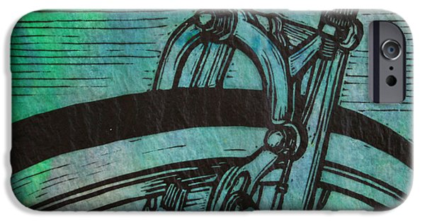 Lino Drawings iPhone Cases -  Brake  iPhone Case by William Cauthern