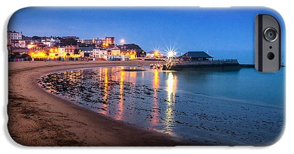 Beach At Night iPhone Cases -  Broadstairs at Twilight.  iPhone Case by Ian Hufton