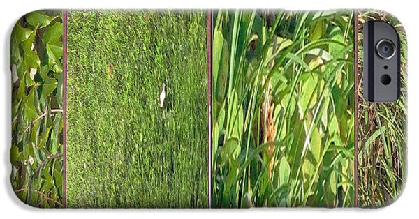 Electronic iPhone Cases -  Canadian wild grass green variety collage      iPhone Case by Navin Joshi