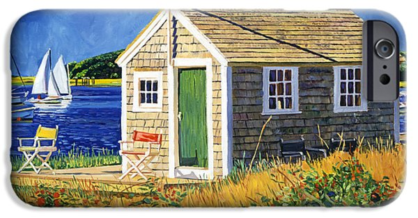 Cape Cod Landscapes iPhone Cases -  Cape Cod Boat House iPhone Case by David Lloyd Glover