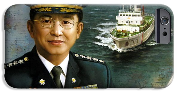 Police iPhone Cases -  Captain Korea iPhone Case by Yoo Choong Yeul