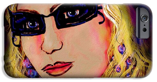 Self-portrait Mixed Media iPhone Cases -  Casablanca Girl iPhone Case by Natalie Holland
