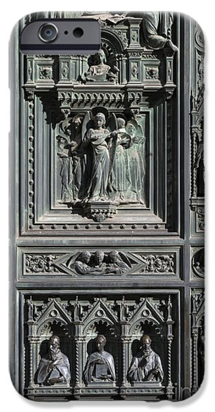 The Duomo iPhone Cases -  Cathedral Door iPhone Case by John Greim