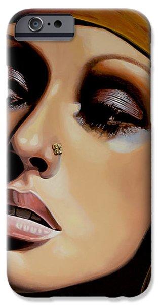 Christina Aguilera iPhone Case by Paul Meijering