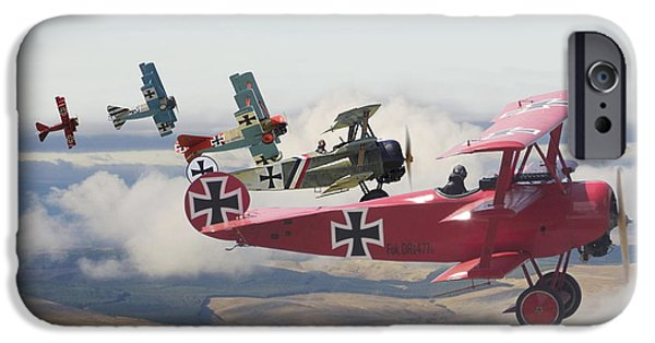 Classic Aircraft iPhone Cases -  Circus comes to Town iPhone Case by Pat Speirs