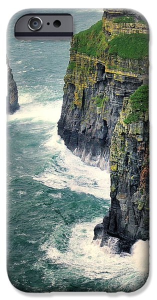 Prince Harry iPhone Cases -  Cliffs of Moher in Ireland iPhone Case by Jan Sieminski