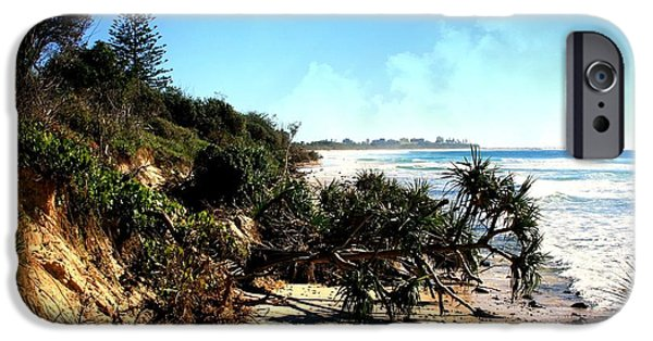 Rural Tapestries - Textiles iPhone Cases -  Coastal Erosion iPhone Case by Kevin Perandis
