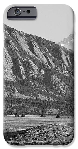 Colorado Rocky Mountains Flatirons with Snow Covered Twin Peaks iPhone Case by James BO  Insogna