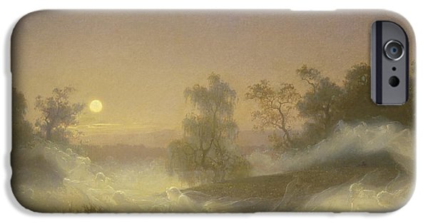 Fog Mist iPhone Cases -  Dancing Fairies iPhone Case by August Malmstrom