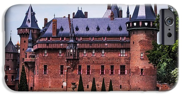Garden Scene Photographs iPhone Cases -  De Haar Castle 4. Utrecht. Netherlands iPhone Case by Jenny Rainbow
