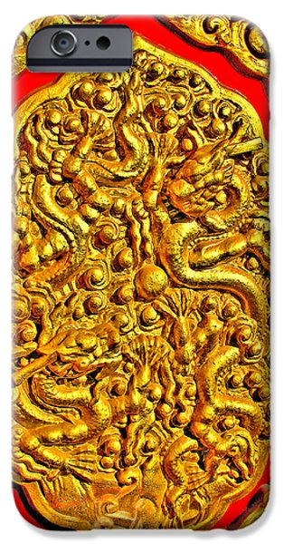 Allegoric iPhone Cases -  Dragon Plays with Pearl. iPhone Case by Andy Za
