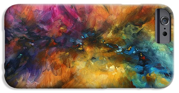 Recently Sold -  - Abstract Expressionist iPhone Cases -  Dreamscape iPhone Case by Michael Lang