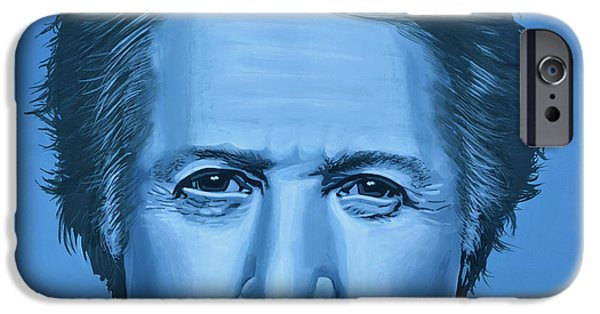 Chance iPhone Cases -  Dustin Hoffman iPhone Case by Paul  Meijering