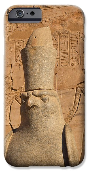 Horus iPhone Cases -  Edfu Temple  iPhone Case by Jaroslav Frank