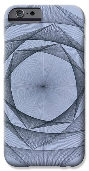 Energy Spiral iPhone Case by Jason Padgett
