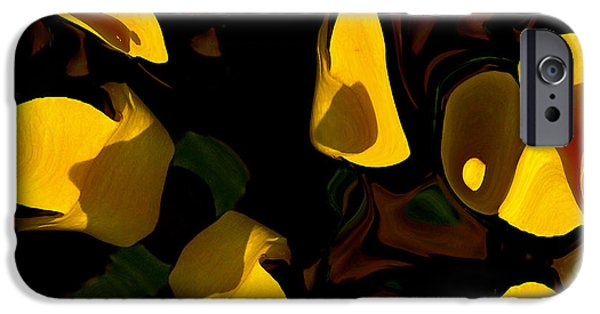 Abstract Expressionism iPhone Cases -  Essence of Life iPhone Case by David Winson