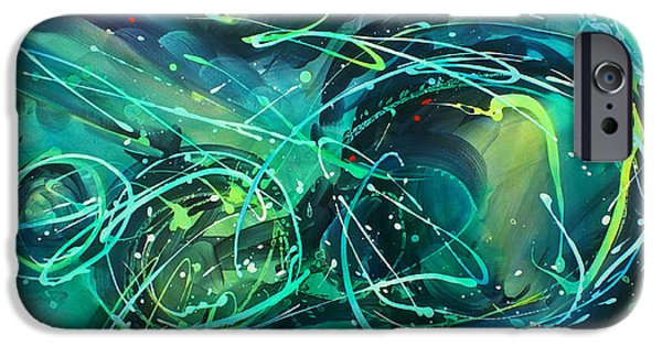 Abstract Movement iPhone Cases -  evening Sky iPhone Case by Michael Lang