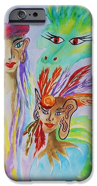 Out Of This World iPhone Cases -  Expressionist Dream  iPhone Case by Ellen Levinson