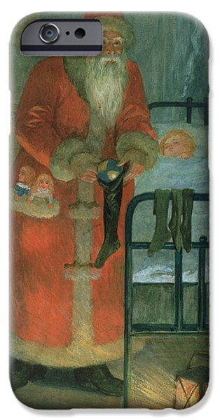 Father Christmas iPhone Cases -  Father Christmas  iPhone Case by Karl Roger