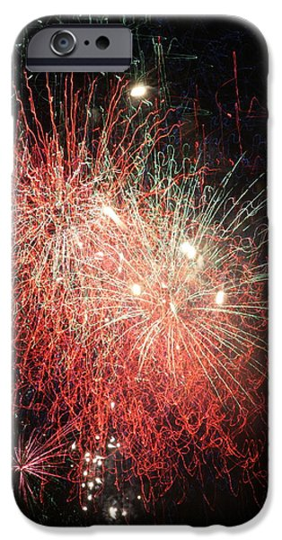 Independance Day iPhone Cases -  Fireworks iPhone Case by Alan Hutchins