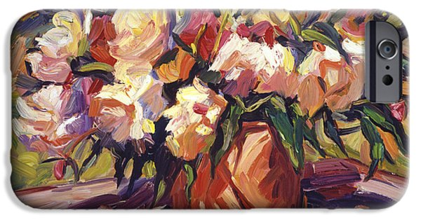 Still Life iPhone Cases -  Flower Bucket iPhone Case by David Lloyd Glover