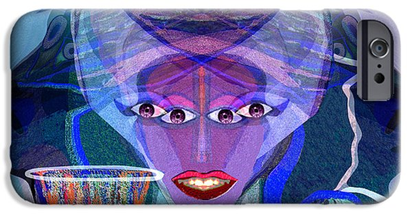 Strange iPhone Cases - 943 - Witchcraft iPhone Case by Irmgard Schoendorf Welch