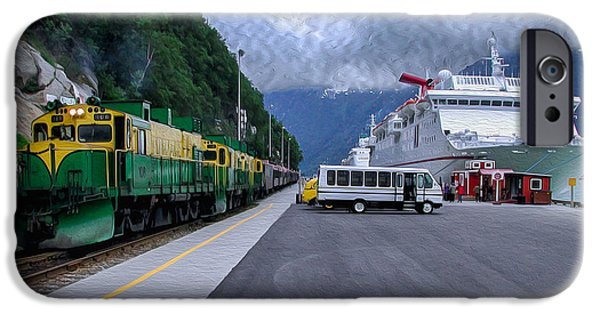 Marine iPhone Cases -  From Ship to Train iPhone Case by John Bailey