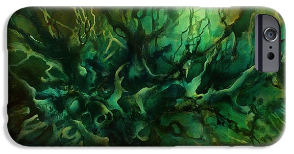 Abstract Expressionist iPhone Cases -  Garden of Dreams  iPhone Case by Michael Lang