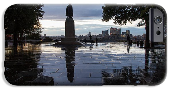Naval College iPhone Cases -  General Wolfe on Greenwich Hill iPhone Case by Wayne Molyneux