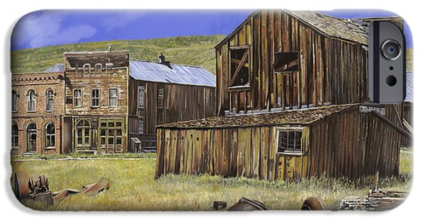Old Village iPhone Cases -  ghost town of Bodie-California iPhone Case by Guido Borelli