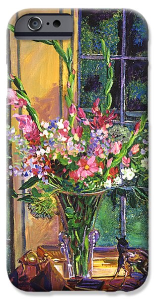 Table Top iPhone Cases -  Gladiola Arrangement iPhone Case by David Lloyd Glover