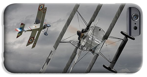 Fokker D V11 iPhone Cases -  Gotcha iPhone Case by Pat Speirs