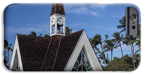 Ceremony iPhone Cases -  Grand Wailea Hawaiian resort wedding chapel on Maui iPhone Case by Edward Fielding
