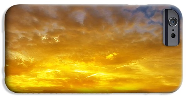 Concord Massachusetts iPhone Cases -  Great Meadows Sunset of Gold iPhone Case by Sylvia J Zarco