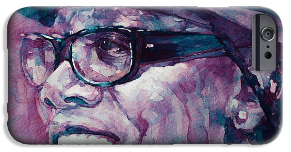 Clarence Clemons Paintings iPhone Cases - Working on a Dream  iPhone Case by Laur Iduc