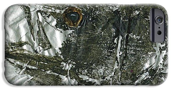 Sportfish Mixed Media iPhone Cases -  Gyotaku - Striped Bass - Striper Chase iPhone Case by Jeffrey Canha