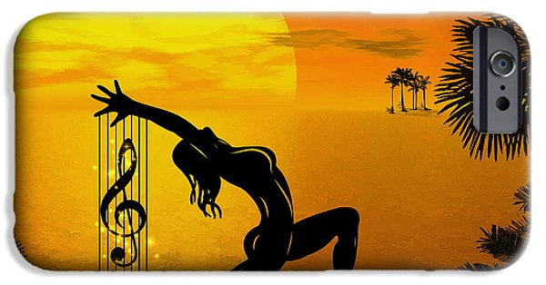 Young Digital iPhone Cases -  Harpist iPhone Case by Andrzej Szczerski