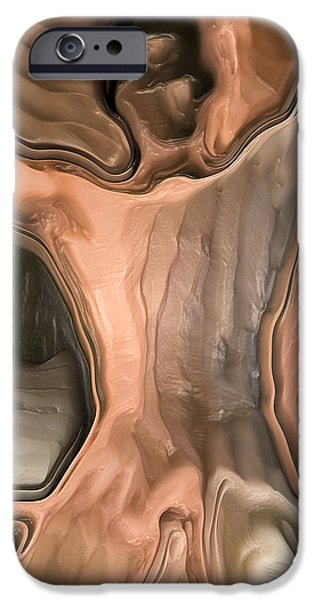 Abstract Digital iPhone Cases -  Naked boy sitting in the window By Quim Abella iPhone Case by Joaquin Abella