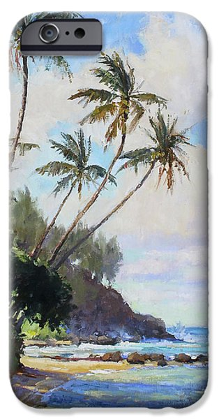 Islands Art iPhone Cases -  Hawaii Caught in the Trades iPhone Case by Jenifer Prince