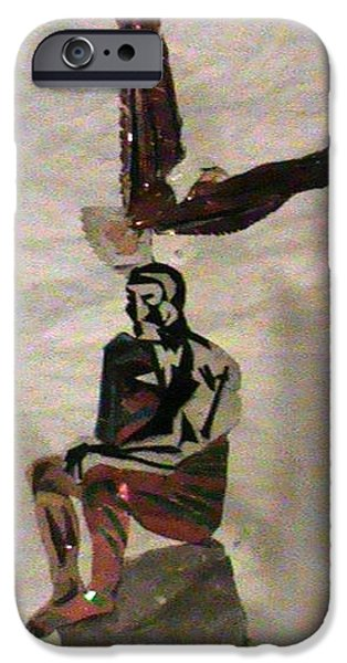Thinking Sculptures iPhone Cases -  High Thinker  iPhone Case by Benneth Wilson