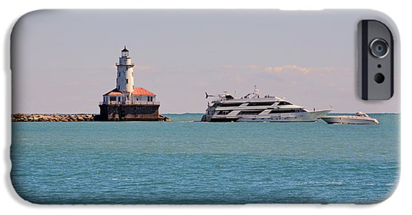Lightstations iPhone Cases -  Historical Chicago Harbor Light iPhone Case by Christine Till