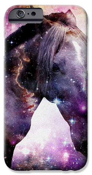 Cosmic iPhone Cases -  Horse in the Small Magellanic Cloud iPhone Case by Anastasiya Malakhova
