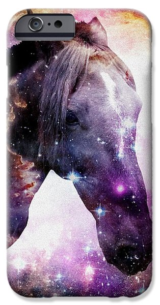 Horse in the Small Magellanic Cloud iPhone Case by Anastasiya Malakhova