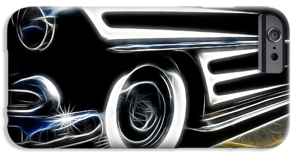 Stripe.paint iPhone Cases -  Hot Rod Ready To Rumble iPhone Case by Bob Christopher