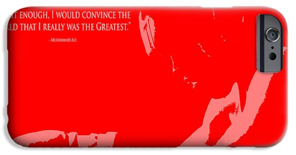 Olympic Gold Medalist iPhone Cases -  I am The Greatest 1 iPhone Case by Brian Reaves