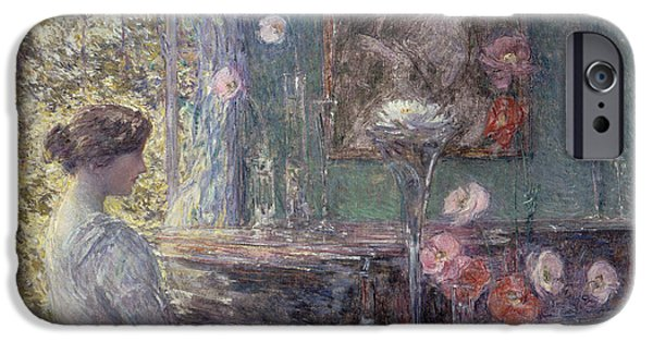 Childe iPhone Cases -  Improvisation iPhone Case by Childe Hassam