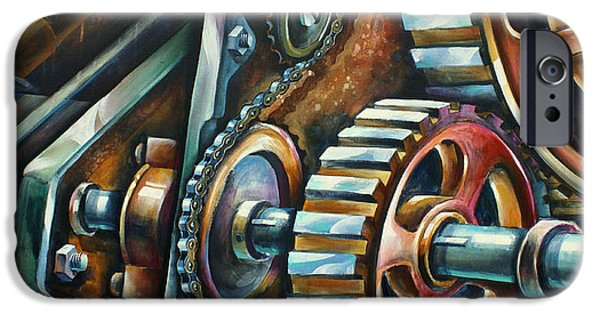 Machinery iPhone Cases -  In Harmony  iPhone Case by Michael Lang
