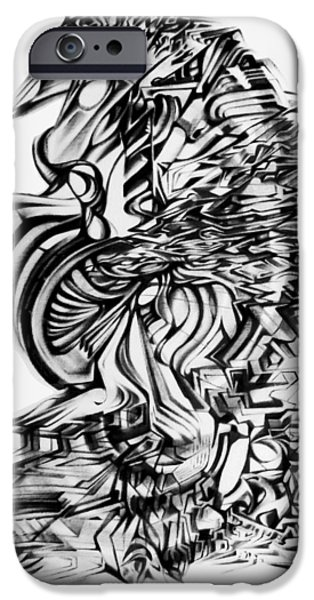 Abstract Digital Drawings iPhone Cases -  In The Zenith Of Expectancy  iPhone Case by The Door Project