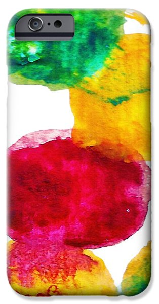 Abstract Forms Mixed Media iPhone Cases -  Interactions 1 iPhone Case by Amy Vangsgard